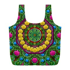 Bohemian Chic In Fantasy Style Full Print Recycle Bags (l)  by pepitasart