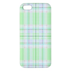 Green Pastel Plaid Apple Iphone 5 Premium Hardshell Case by allthingseveryone