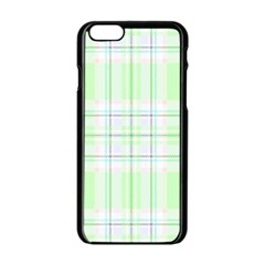 Green Pastel Plaid Apple Iphone 6/6s Black Enamel Case by AllThingsEveryone