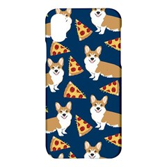 Corgi Pizza Navy Blue Kids Cute Funny Apple Iphone X Hardshell Case by Celenk