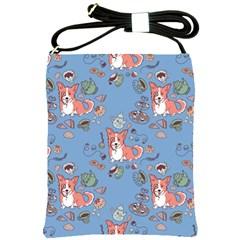 Dog Corgi Pattern Shoulder Sling Bags by Celenk