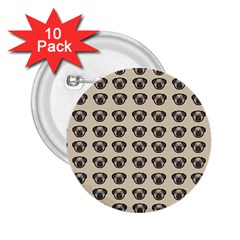 Puppy Dog Pug Pup Graphic 2 25  Buttons (10 Pack)  by Celenk