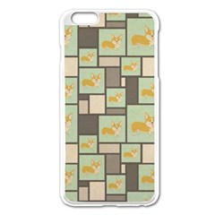 Quirky Corgi Kraft Present Gift Wrap Wrapping Paper Apple Iphone 6 Plus/6s Plus Enamel White Case by Celenk