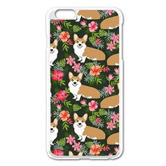 Welsh Corgi Hawaiian Pattern Florals Tropical Summer Dog Apple Iphone 6 Plus/6s Plus Enamel White Case by Celenk