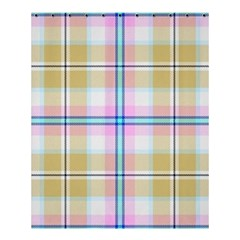 Pink And Yellow Plaid Shower Curtain 60  X 72  (medium)  by allthingseveryone
