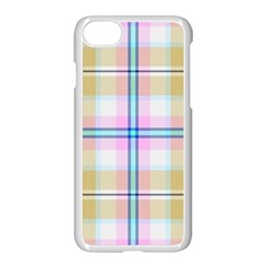 Pink And Yellow Plaid Apple Iphone 8 Seamless Case (white) by allthingseveryone