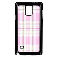 Pink Pastel Plaid Samsung Galaxy Note 4 Case (black) by allthingseveryone