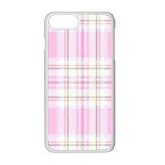 Pink Pastel Plaid Apple Iphone 8 Plus Seamless Case (white) by allthingseveryone