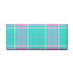 Blue And Pink Pastel Plaid Cosmetic Storage Cases by allthingseveryone