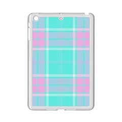 Blue And Pink Pastel Plaid Ipad Mini 2 Enamel Coated Cases by allthingseveryone