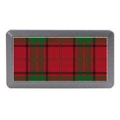 Red And Green Tartan Plaid Memory Card Reader (mini) by allthingseveryone