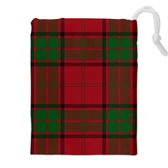 Red And Green Tartan Plaid Drawstring Pouches (xxl) by allthingseveryone