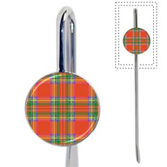 Orange And Green Plaid Book Mark by allthingseveryone