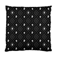 Funny Little Skull Pattern, B&w Standard Cushion Case (two Sides) by MoreColorsinLife