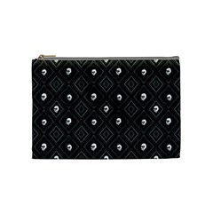 Funny Little Skull Pattern, B&w Cosmetic Bag (medium)  by MoreColorsinLife