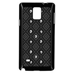 Funny Little Skull Pattern, B&w Samsung Galaxy Note 4 Case (black) by MoreColorsinLife