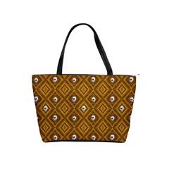 Funny Little Skull Pattern, Golden Shoulder Handbags by MoreColorsinLife