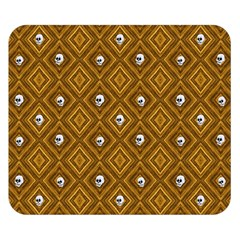 Funny Little Skull Pattern, Golden Double Sided Flano Blanket (small)  by MoreColorsinLife