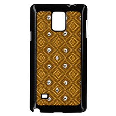 Funny Little Skull Pattern, Golden Samsung Galaxy Note 4 Case (black) by MoreColorsinLife
