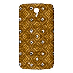 Funny Little Skull Pattern, Golden Samsung Galaxy Mega I9200 Hardshell Back Case by MoreColorsinLife