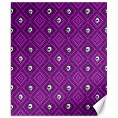 Funny Little Skull Pattern, Purple Canvas 20  X 24   by MoreColorsinLife