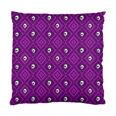 Funny Little Skull Pattern, Purple Standard Cushion Case (two Sides) by MoreColorsinLife