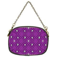 Funny Little Skull Pattern, Purple Chain Purses (two Sides)  by MoreColorsinLife