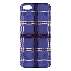 Purple Heather Plaid Apple Iphone 5 Premium Hardshell Case by allthingseveryone