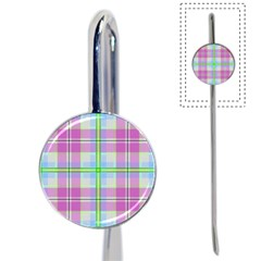 Pink And Blue Plaid Book Mark by allthingseveryone