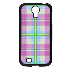 Pink And Blue Plaid Samsung Galaxy S4 I9500/ I9505 Case (black) by allthingseveryone