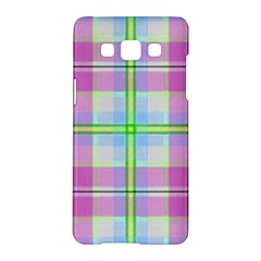 Pink And Blue Plaid Samsung Galaxy A5 Hardshell Case  by allthingseveryone