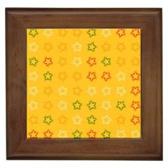 Spray Stars Pattern B Framed Tiles by MoreColorsinLife