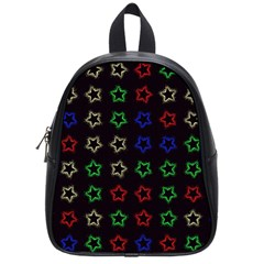 Spray Stars Pattern A School Bag (small) by MoreColorsinLife