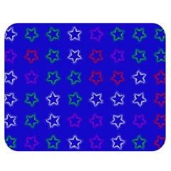 Spray Stars Pattern E Double Sided Flano Blanket (medium)  by MoreColorsinLife