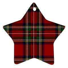 Red Tartan Plaid Star Ornament (two Sides) by allthingseveryone