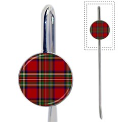 Red Tartan Plaid Book Mark by allthingseveryone