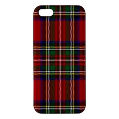 Red Tartan Plaid Apple Iphone 5 Premium Hardshell Case by allthingseveryone
