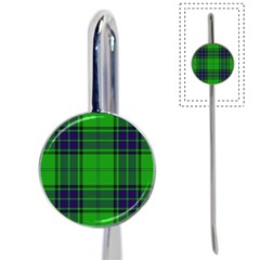 Green And Blue Plaid Book Mark by allthingseveryone