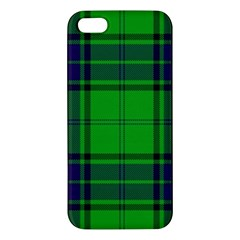 Green And Blue Plaid Apple Iphone 5 Premium Hardshell Case by allthingseveryone