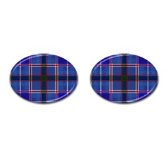 Blue Heather Plaid Cufflinks (oval) by allthingseveryone