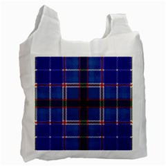 Blue Heather Plaid Recycle Bag (one Side) by allthingseveryone