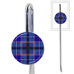 Blue Heather Plaid Book Mark by allthingseveryone