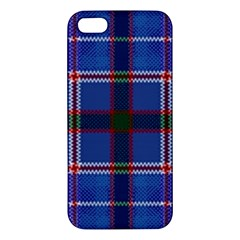 Blue Heather Plaid Apple Iphone 5 Premium Hardshell Case by allthingseveryone