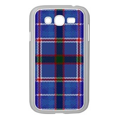 Blue Heather Plaid Samsung Galaxy Grand Duos I9082 Case (white) by allthingseveryone