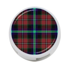 Purple And Red Tartan Plaid 4 Port Usb Hub (two Sides)  by allthingseveryone