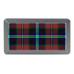 Purple And Red Tartan Plaid Memory Card Reader (mini) by allthingseveryone