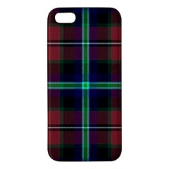 Purple And Red Tartan Plaid Apple Iphone 5 Premium Hardshell Case by allthingseveryone