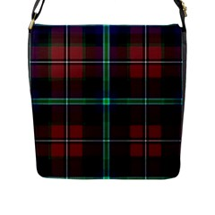 Purple And Red Tartan Plaid Flap Messenger Bag (l)  by allthingseveryone