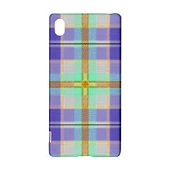 Blue And Yellow Plaid Sony Xperia Z3+ by allthingseveryone