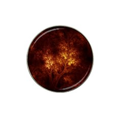 Artsy Brown Trees Hat Clip Ball Marker by allthingseveryone